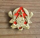 Ghana Army Warrant Officers Gold Coloured Badge For A Leather Wrist Strap.