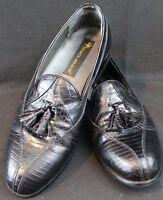 Stacy Adams Genuine Snakeskin Leather Mens Shoes Size 8 M 23021-01 Slip On #6-3