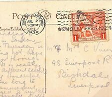GB Card EMPIRE EXHIBITION 1d REAL PHOTO PPC Wembley 1924{samwells} B277