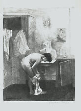"""A very fine Raphael Soyer lithograph, """"Nude in interior"""", pencil signed"""