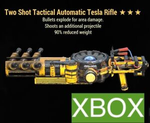 TSE 90 TESLA TWO SHOT EXPLOSIVE FO 76 XBOX REDUCED WEIGHT LEGACY WEAPON RIFLE OP