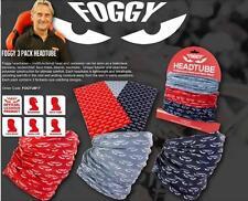 3 X Carl Fogarty Niebla Ojos Multi Función Para Motociclista de máscara de tubo de cabeza de cuello