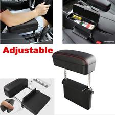 1x Adjustable Leather Car Seat Gap Slit Pocket Box Organizer Arm Rest Cushion