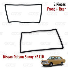 Front Rear Windshield Rubber Seal For Nissan/Datsun Sunny KB110 Coupe 1972 1973