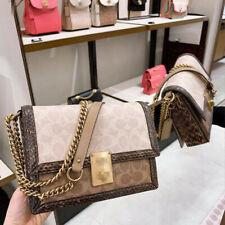 Leather bag small square bag snake print shoulder messenger bag women