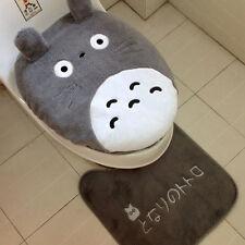 3 Piece/set New Toilet Seat Cover Totoro Cartoon Warm Close Stool Cushion Mat