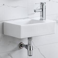 Corner Wall Mount Bathroom Sink Ceramic Porcelain Toilet Lavatory Bowl