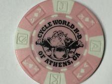 Harley Poker Chip    CYCLE WORLD HD    ATHENS, GA     PINK    Bulldog