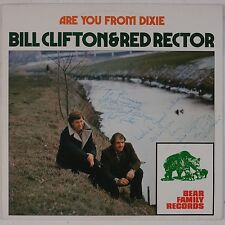 BILL CLIFTON & RED RECTOR: Are You From Dixie SIGNED Bear Family Bluegrass LP