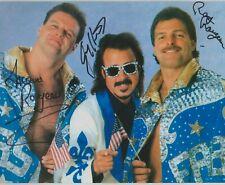 The Fabulous Rougeaus Jacques Raymond & Jimmy Hart Signed WWF 8x10 Photo WWE
