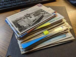 WOW! Big lot of 55 BRIDGE Postal History Covers BRIDGES 1908+ AWESOME!