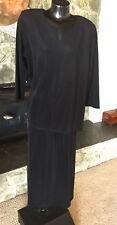 Susan Graver Liquid Knit  Black 2 Pc Top & Skirt  from QVC   NWT   1X