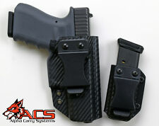 Smith & Wesson M&P 9C/40C IWB Appendix Carry Kydex Gun Holster & Magazine Combo