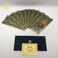 10pcs/lot ONE Hundred Bitcoin Gold Banknote BTC Money Souvenir Collection +COA