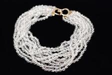 VINTAGE CINER 9 Strands of Clear Crystals Choker Necklace