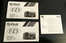 Original Fuji FZ-5 Camera Instruction Manual x 2