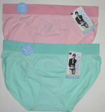2 Jockey Bikini Panty Set Nylon Seamfree Microfiber Modern Fit Pink Blue 6 M NWT