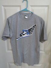 Youth Nike Air Jordan Gray T Shirt Flight Retro 1 Wings Shoes Logo Large 14/16