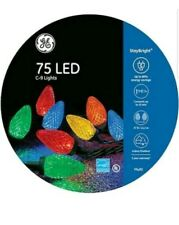 GE 75 LED C9 Multi Color StayBright Lights on Reel New Multicolor Christmas