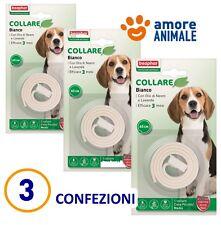 3 CONFEZIONI - Beaphar Protezione Naturale - Collare colore BIANCO per cane cani