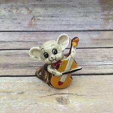 "Vintage Ceramic Lipco Taiwan Cello Instrument Mouse Figure 2.5"""