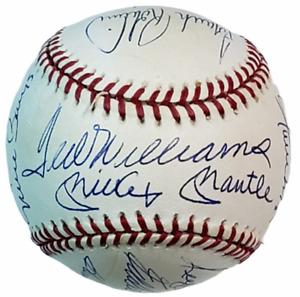 500 Home Run Club Signed Baseball 11-Players Mantle, Williams, Aaron No COA OAL