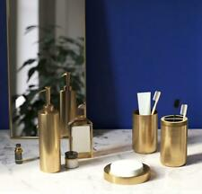Stainless Steel Gold Accessories Bathroom Cup Toothbrush Holder Soap Dish Set