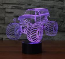Big Size Grave Digger Monster Truck 3D Desk Lamp 7 Changeable Colors Night Light