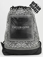 Cayler & Sons black bandana faux leather paisley sports gymbag sac backpack bag