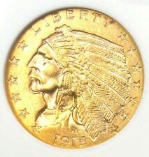 1915 Indian Gold Quarter Eagle $2.50 Coin - Certified ANACS AU58 - Rare Coin!