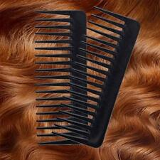 SALON HAIRDRESSING SHOWER WIDE TOOTH DETANGLER MASSAGE HAIR BRUSH COMB BLACK