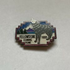 Lapel Pin Vintage Yellowstone Wyoming Yellowstone Park Jacket Vintage Wolf Yellowstone Pin Montana for Wolf Reintroduction Project Pin