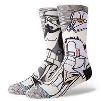 STANCE x STAR WARS Men's Crew Socks TROOP - GRY - Medium(6-8.5) - NWT