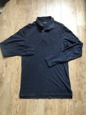 All Saints Long Sleeve Polo Shirt Size Extra Small Men's