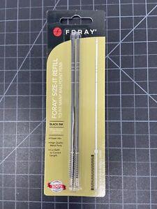 FORAY Size-It Sizable Ballpoint Pen Refills, Black FINE Point