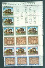 Vatican City #379-82,  Nubian Monuments, Ornamental Corner block of 5, MNH
