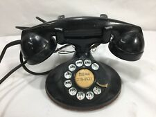Vintage 202 Western Electric Rotary Dial  Black Telephone D1 Base F1 Receiver
