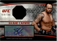 2010 Topps UFC Knockout Fighter Relics Autographs #AFGSC Shane Carwin /188