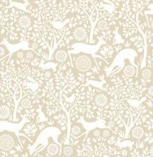 Woodland Meadow Animals Wallpaper by A Street Prints - Beige FD22733