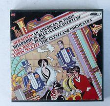 Gershwin Rhapsody American Cuban Maazel 7in Reel 4T Dolby Tape 7 1/2 ips TESTED