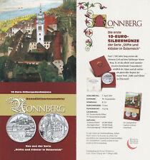 Folder for 10 Euro 2006 Austria # Benedictine monastery Nonnberg # No Coin!