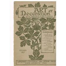 ART et DÉCORATION Œuvres de Victor PROUVÉ & Le VITRAIL par Lucien Magne 1897 N°2