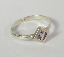 Talla 9 Amatista violeta Anillo .925 Plata de Ley Piedra nacimiento Febrero