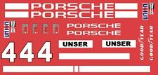 #4 Al UNSER Porsche IROC 1/64th HO Scale Slot Car Decals Custom label:  4unser