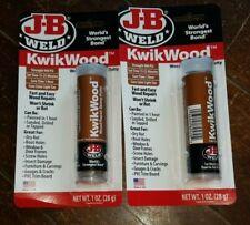 2 X 1 Oz Tubes J B Weld Kwik Wood Wood Repair Epoxy Putty 900 Psi