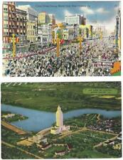 Louisiana Post Cards. 2 Cards. Baton Rouge - Capitol.  New Orleans Mardi Gras