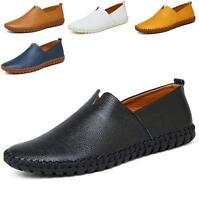 Plus Size Men's Slip On Leisure Soft leather chic Moccasin Driving Shoes Loafer