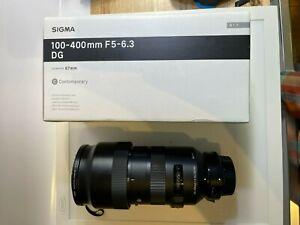 Sigma 100-400mm DG lens for Nikon and Sigma TC-1401 Teleconverter