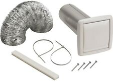 Broan Wall Vent Ducting Kit Kitchen Bath Exhaust Fan Venting Through Wall White
