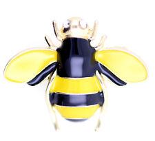 Gold tone enamel bee brooch, multiple colours